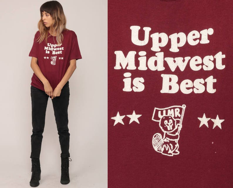 3396011c3 Midwest Shirt UPPER MIDWEST Is BEST Umr Shirt Graphic Retro | Etsy