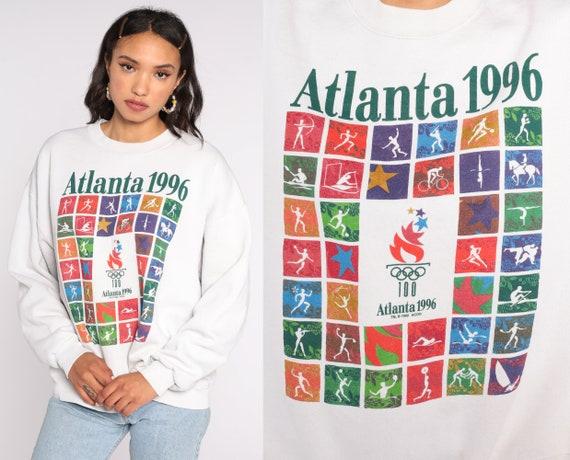 Atlanta Olympics Shirt 1996 USA Olympics Sweatshirt Crewneck Sweatshirt 90s Slouchy 1990s Vintage Sweat Shirt Extra Large xl