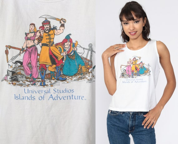 Vintage Universal Studios Shirt 1999 Tank Top Sinbad Shirt Arabian Nights Graphic Tshirt Cartoon Top Throwback T Shirt Small xs