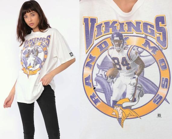 90s Randy Moss Shirt Minnesota Vikings Shirt STATER T Shirt Football Jersey NFL Tshirt Football T Shirt Sports Vintage Retro Medium Large