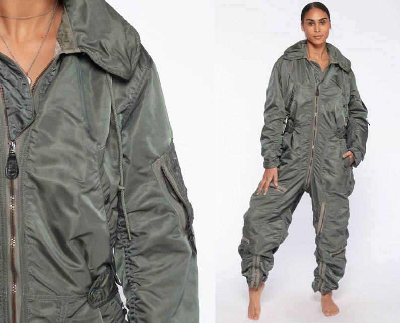 4039e1f575e Flight Suit Military Jumpsuit Army Coveralls Air Force Zip Up