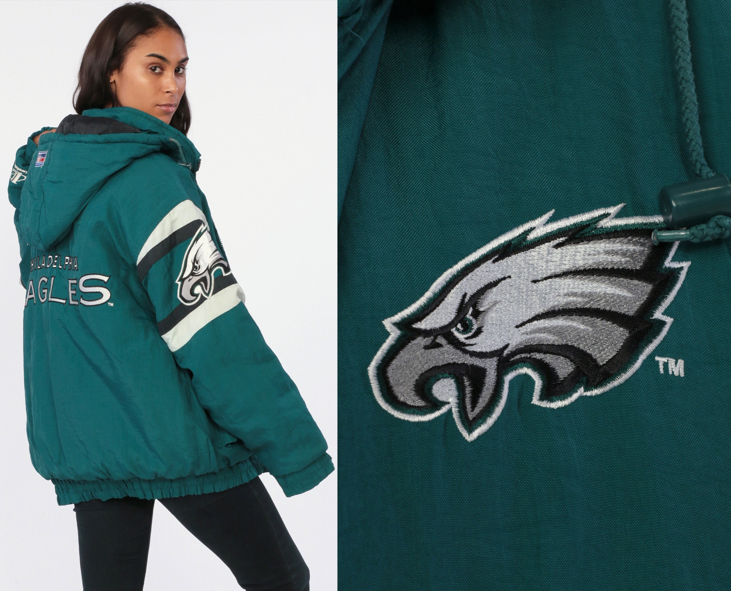 sneakers for cheap 5ad46 bd42f Philadelphia Eagles Jacket Hooded Pro Line Jacket Nfl ...
