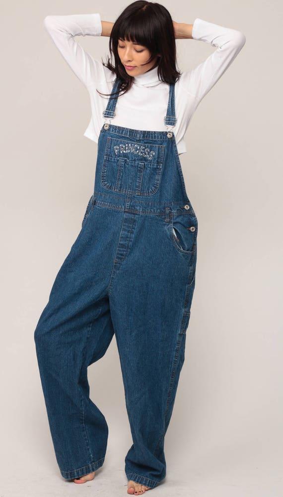 Latzhose PRINESS Denim Overall Hose Nieten Jeans 90er Jahre   Etsy