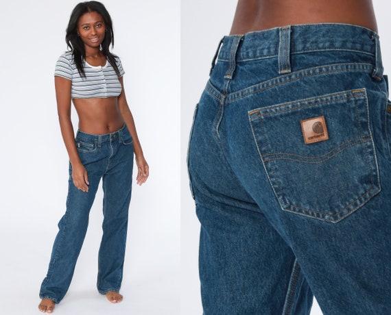 Carhartt Jeans 34 x 32 Men's Pants Workwear Blue B