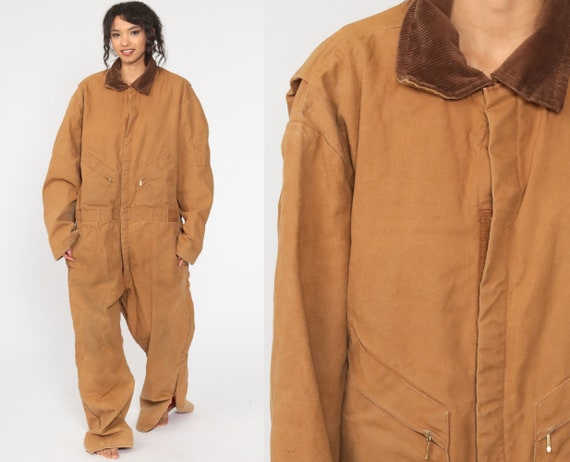 Walls Coveralls 2xl Insulated Jumpsuit 90s One Piece Pants Workwear Blizzard Pruf Long Pants Work Wear Tan Vintage 1990s Extra Large xxl