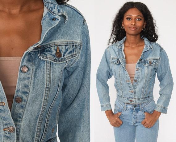 Levis Denim Jacket xs Trucker Jean Jacket 80s Denim Jacket Blue Levi Coat 1980s Vintage Retro Biker Extra Small xs