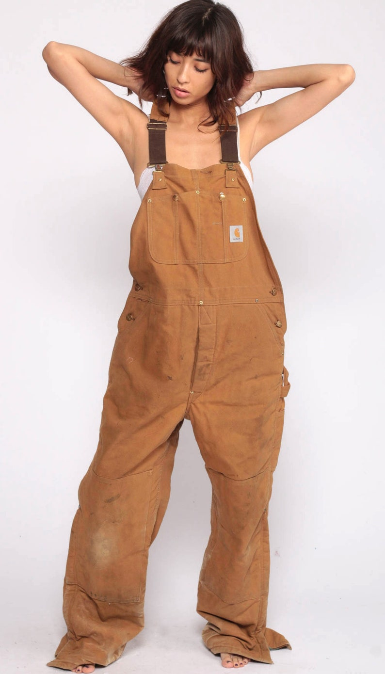 aaa9fb7329 Carhartt Overalls Workwear Coveralls Baggy Pants QUILTED Cargo