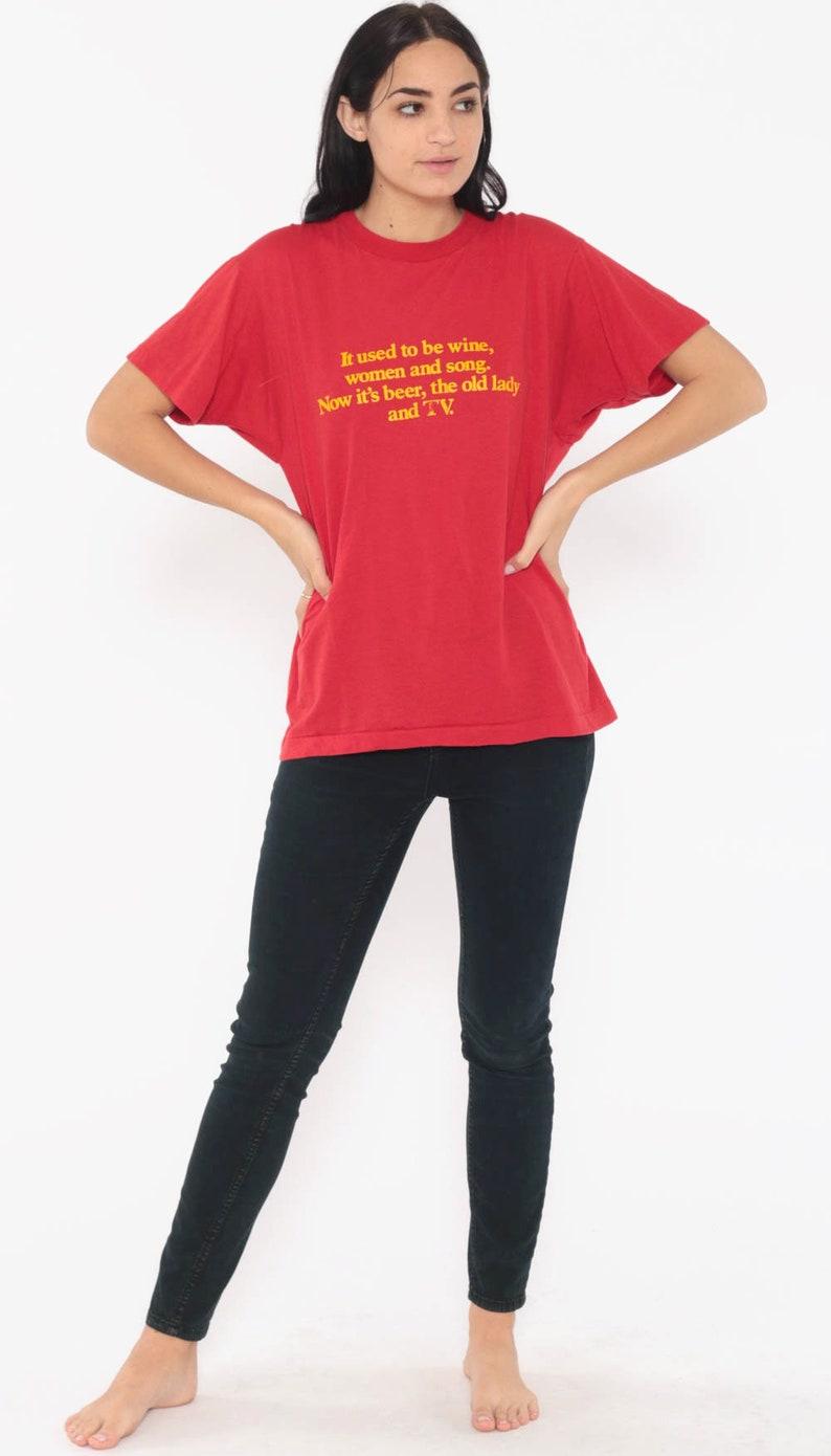 9473722a2 Vintage Screen Stars Shirt WINE WOMEN And SONG Graphic Shirt Dad Joke  Sarcastic Shirt 80s Tshirt Retro T Shirt Slogan Small Medium
