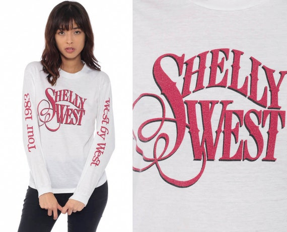 1983 Shelly West Shirt Country Music Tshirt 80s Band Shirt Tour Concert T Shirt Vintage Tee Original Long Sleeve Extra Small xs