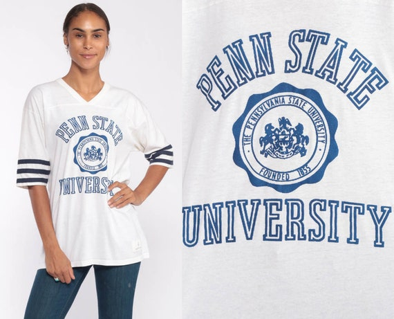 Penn State University Shirt 80s Tee Shirt Pennsylvania Shirt Vintage Tshirt PSU Graphic Retro College T Shirt Sports Medium Large