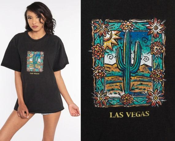 Las Vegas Shirt Y2K Saguaro Cactus Shirt Bird Graphic Shirt 00s Tee Shirt Vintage Tshirt T Shirt Travel Souvenir Black Large xl l