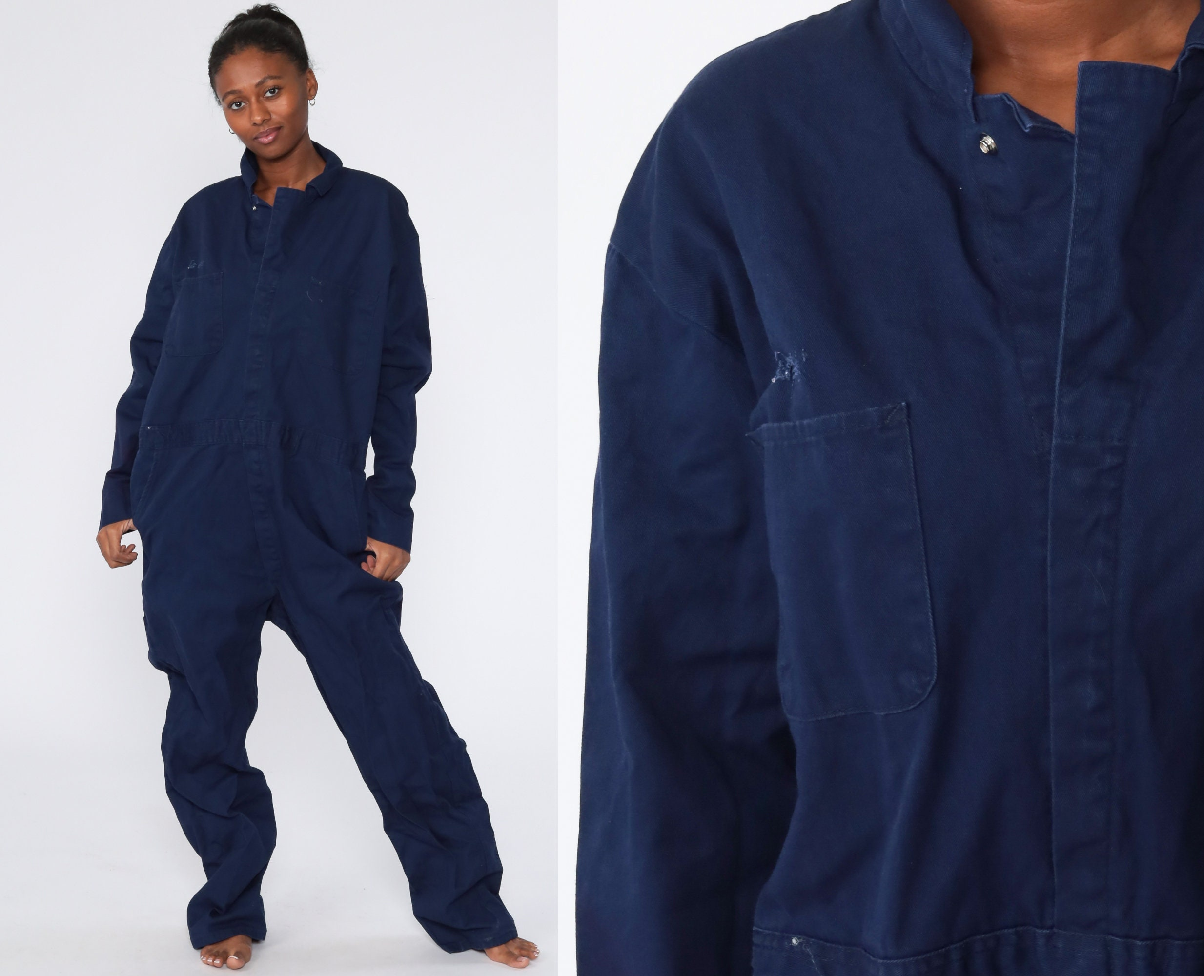 1980/'s Men/'s 48R Vintage Coveralls Boiler Suit Made in USA