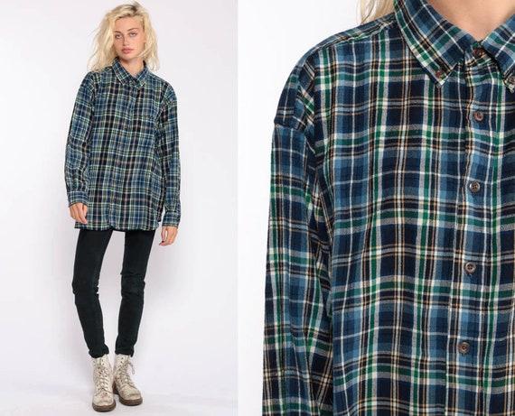 PENDLETON Shirt Oversized Flannel Shirt 90s Plaid Shirt Blue Green Grunge Vintage Button Down Lumberjack Long Sleeve Extra Large 2xl 3xl