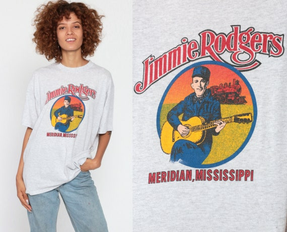 Jimmie Rodgers Shirt Country Music Tshirt Meridian Mississippi Shirt 90s Band Concert T Shirt Tour Vintage Tee Retro Medium Large
