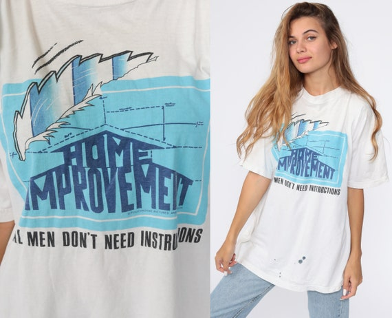Vintage Home Improvement Shirt 90s Nostalgia Tshirt Graphic Print 1990s Tv Show Retro Distressed Extra Large xl l