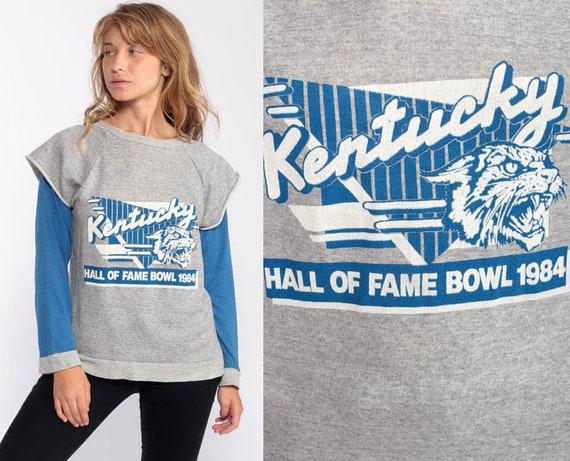 Kentucky Wildcats Shirt Hall Of Fame Bowl 1984 Football Shirt 80s College Sweatshirt Kentucky University Sports Vintage Retro Small