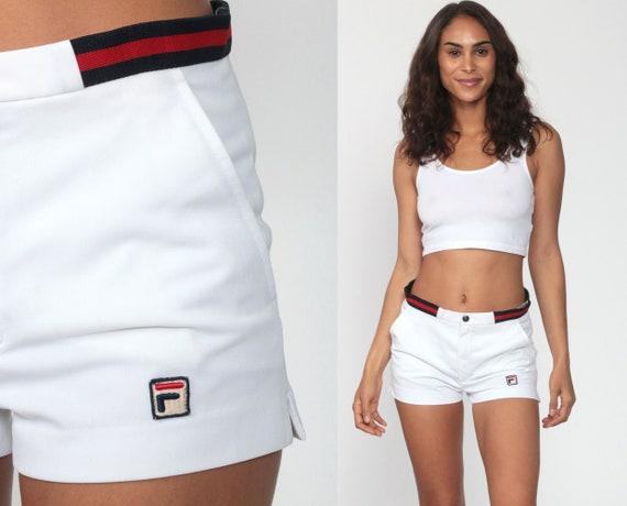 Fila  Shorts White Tennis Shorts 80s Retro Preppy
