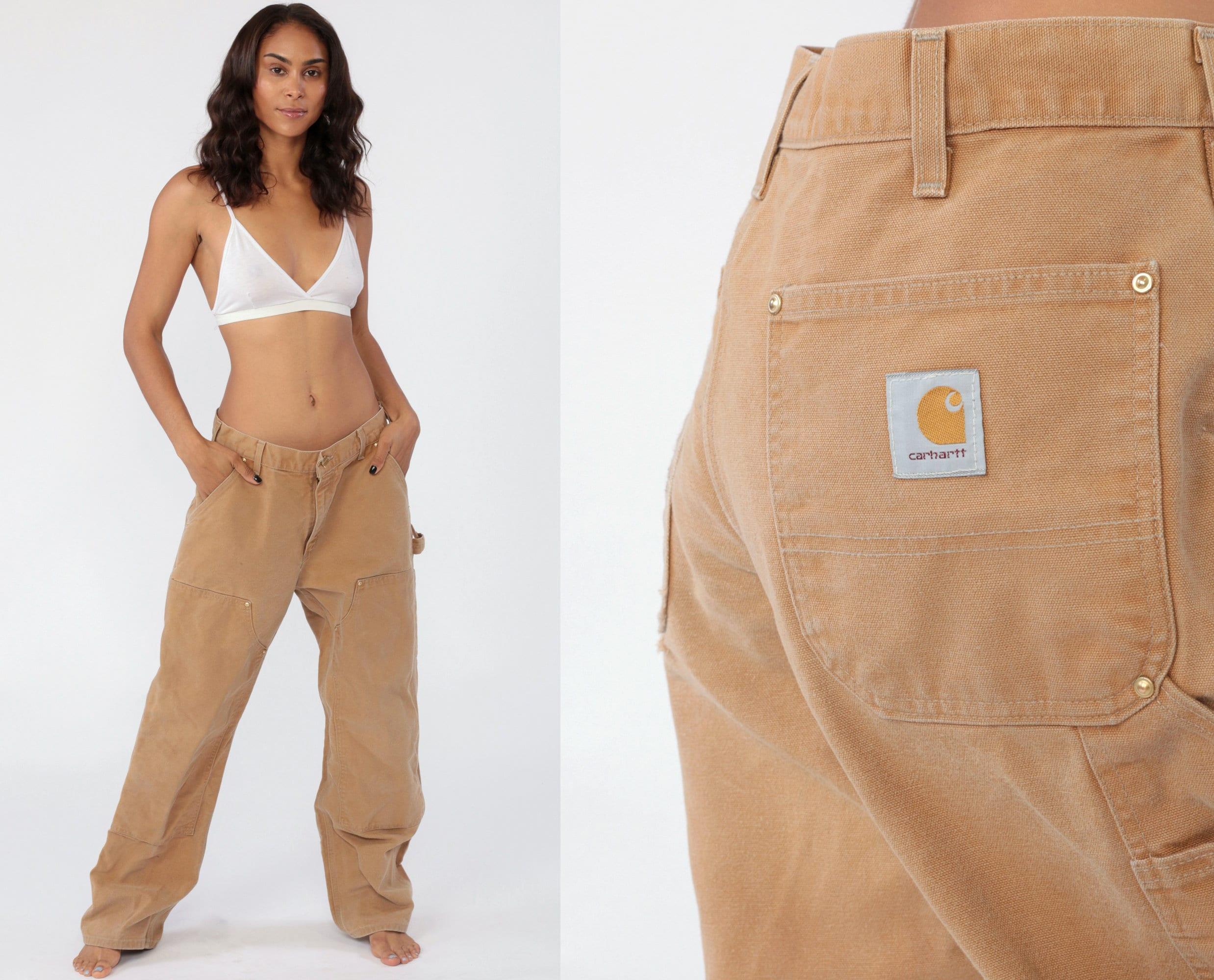 Carhartt Pants Women/'s 25 Workwear Wide Leg Boyfriend Low Rise Work Pants Baggy Cargo Straight Leg Vintage 1990s Streetwear Extra Small xs 2