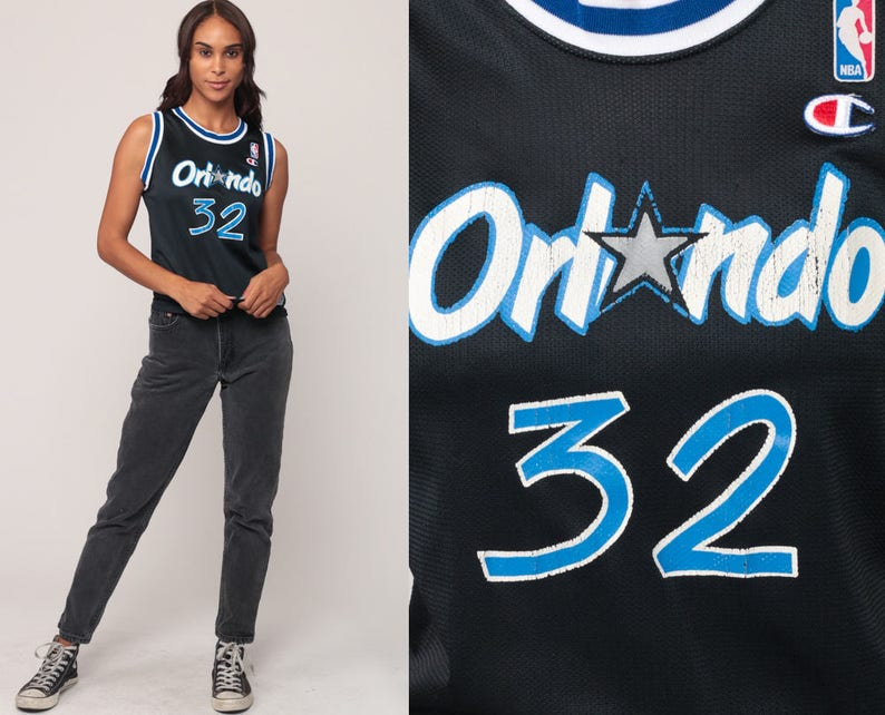 brand new 21df8 cc0b9 Shaquille O'Neal Jersey Orlando Magic Basketball Jersey Shaq 32 Throwback  Nba 90s Champion Jersey Retro Sports Vintage 1990s Extra Small xs