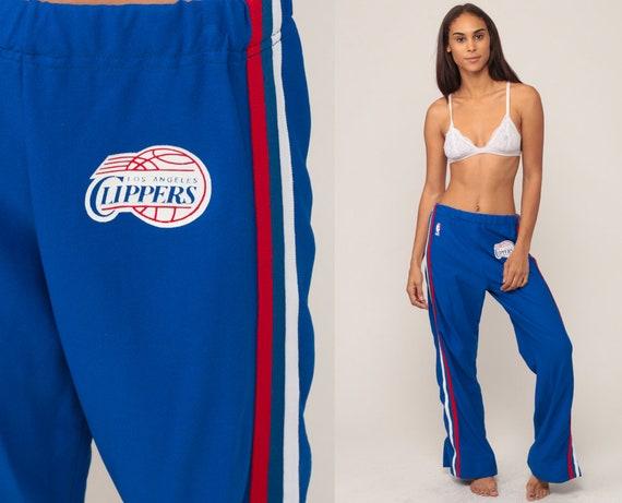 Tear Away Pants LOS ANGELES CLIPPERS Nba Track Pants 90s Basketball Tearaways Blue Track Suit Streetwear Sports Vintage Retro Medium Large