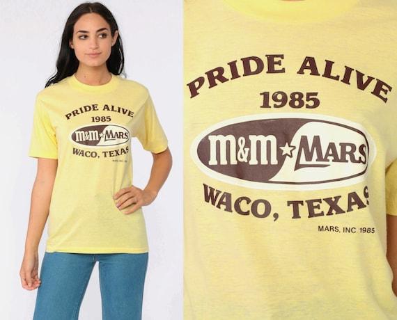 1985 Pride Alive Shirt Waco Texas Gay Pride TShirt 80s LGBT TShirt Gay Pride T Shirt M&M Candy Yellow Vintage Tee Small xs