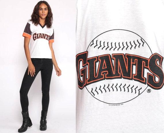 San Francisco Giants Ringer Shirt Baseball Tshirt 80s T Shirt Tee mlb 1980s Sports Top Vintage White Graphic Retro Throwback Extra Small xs