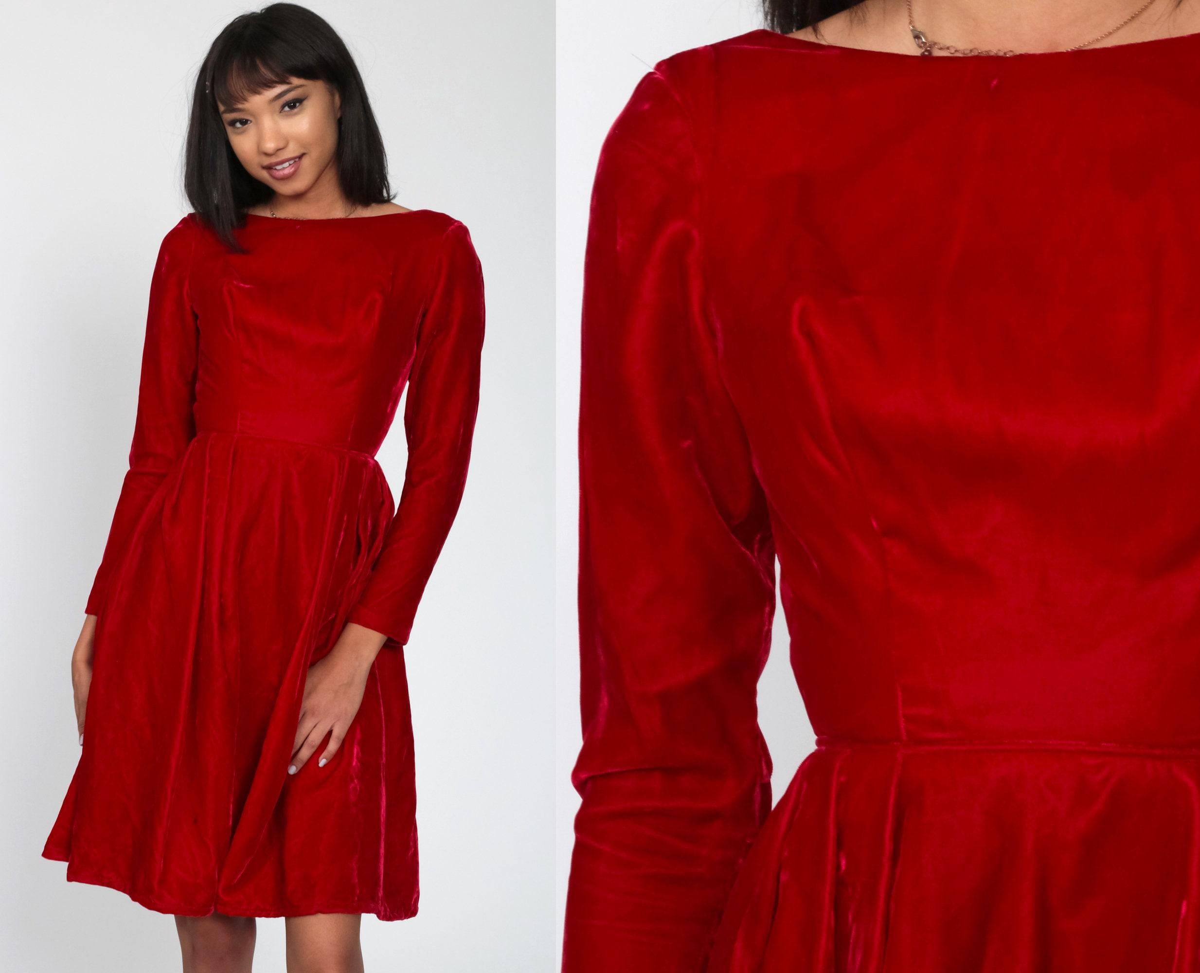 Red Velvet 60/'s Dress