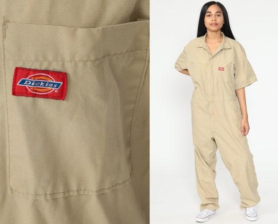 Dickies Coveralls Pants Tan Boilersuit Jumpsuit Wo