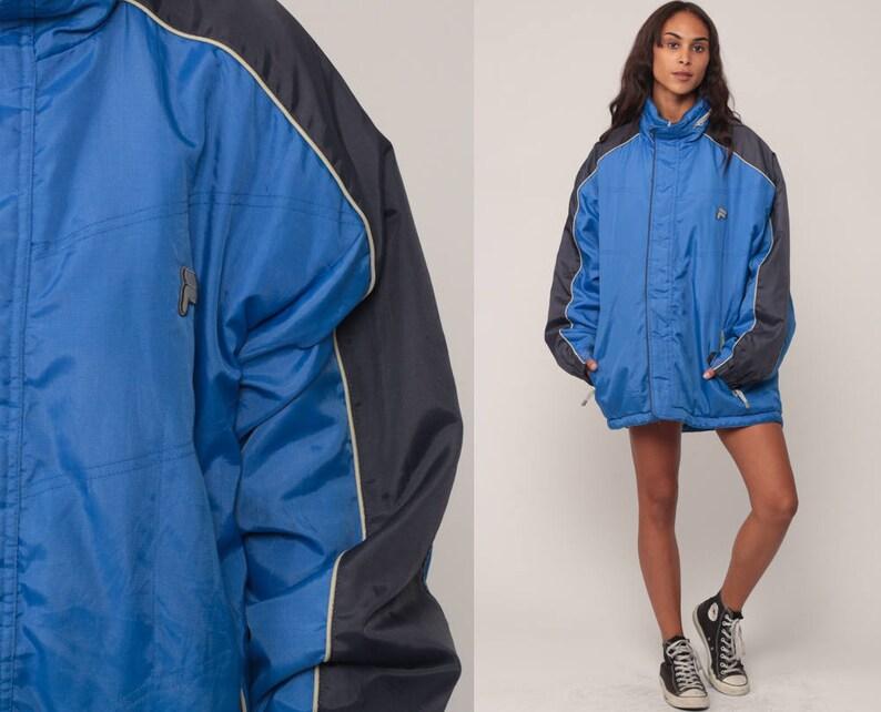41b24b8d5a9d Fila Jacket Streetwear Winter Jacket Blue Sports Jacket 90s   Etsy
