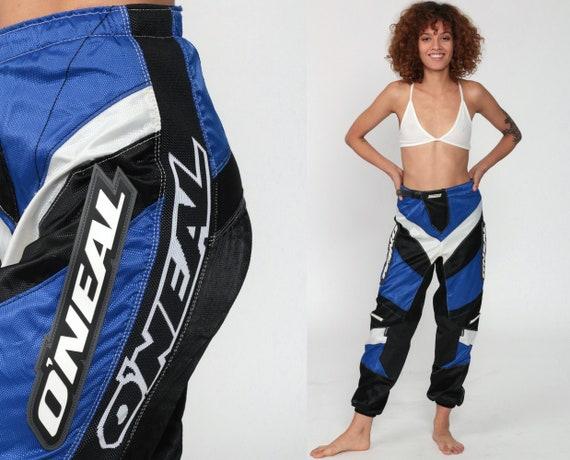 O'Neal Motocross Pants Vintage 90s Dirt Bike Racing Blue Black Riding Streetwear Motorcycle Pants 1990s Biker Pants Retro Small s