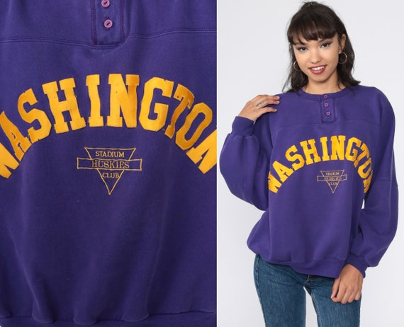 Washington Huskies Sweatshirt University 80s Purpl