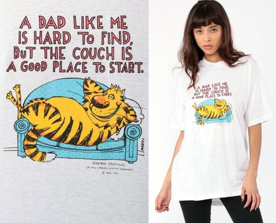 Dad Joke Shirt Funny Shirt 90s Cat Shirt Graphic Cartoon Father T Shirt Shoebox Greetings Vintage Joke Sarcastic 80s Tshirt Medium Large