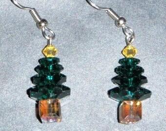 Crystal Tree Earrings