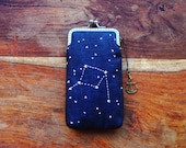 Personality iPhone Case/Glasses Case - Embroidery constellation (iPhone XS/XS Max/XR/X/8/8+, Samsung Galaxy S9/S9+ etc.)