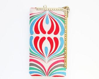 Vintage linen iPhone wallet (iPhone 13 12 Pro/Pro Max/Mini, Samsung Galaxy S21/S21+ etc.)