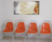 circa 1950s EAMES for Herman Miller SET of FOUR side shell chairs
