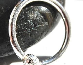 Belly Ring/  Belly Hoop / Sterling Silver / Budded Hoop / Thicker Gauge Hoop / Single Hoop / Simple Belly Ring / 18G 16G 14G Hoop
