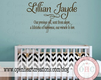 Nursery Wall Quotes Baby Nursery Vinyl Wall Decals Baby