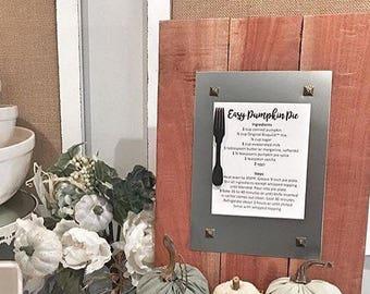 Recipe Holder - Magnetic Board - Menu Board - Farmhouse Picture Frame - Message Board - Farmhouse Kitchen