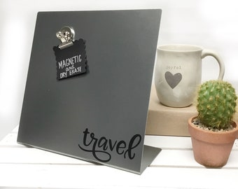 Travel Magnet Board - Graduation- Magnet Collection, Travel Magnet Display - Travel Message Board - Trip Countdown - Memory Board