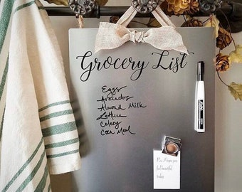 Pantry - Grocery List - Message Board - Magnet Board - Dry Erase Board - Planner - Home Organizer - Farmhouse Kitchen - Back to School
