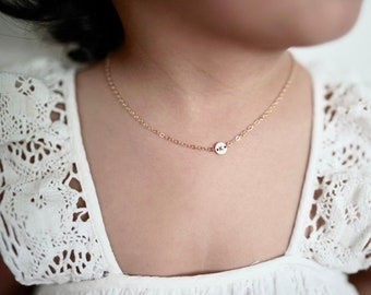 1c899633c94 Baby Necklace 14k Gold Fill   Kids Name Necklace   Initial Necklace   Kids  Gold Necklace   Birthday Necklace