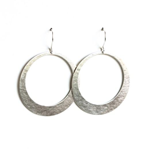 Sparkly 925 Sterling Silver Plated 45mm Textured Twist Hoop Earrings UK