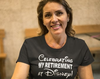 Celebrating my retirement at DISNEY- disney fan, Retired, Mommy and Me Minnie Shirts, Matching Shirts Disney Shirts nana grandmother womens