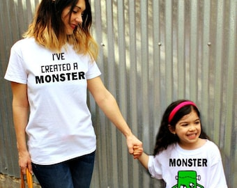 Matching mom and daughter Shirt Set   I've created a MONSTER   Mommy and me shirts   Mommy and daughter shirt   Mothers Day Christmas Gift