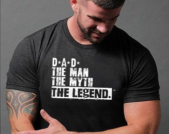 Sale Fathers Day Gift - Dad The Man The Myth The Legend Shirt - Gift Men's T Shirt Husband Dad Papa Grandpa Brother