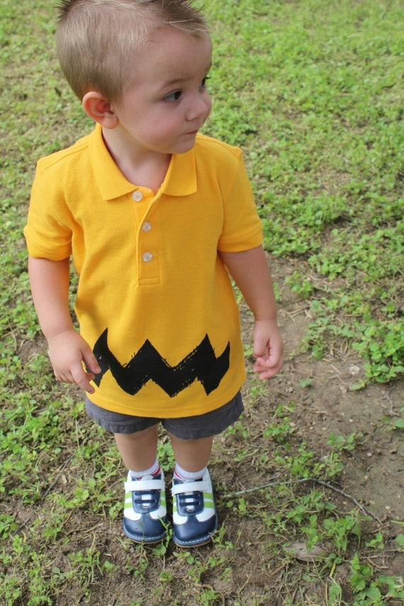 Halloween Costume 4 5.Xs Sz 4 5 Extra Small Retro Charlie Halloween Costume Zig Zag Kids Boys Girls Peanuts Funny Brown Gift Polo T Shirt Teeshirt
