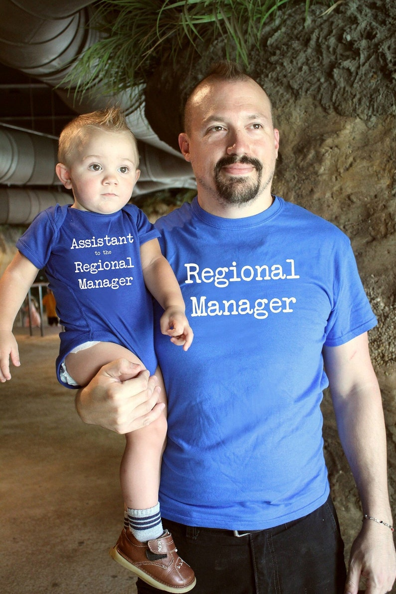 Father Son Matching Shirts  Regional Manager Assistant to the image 0