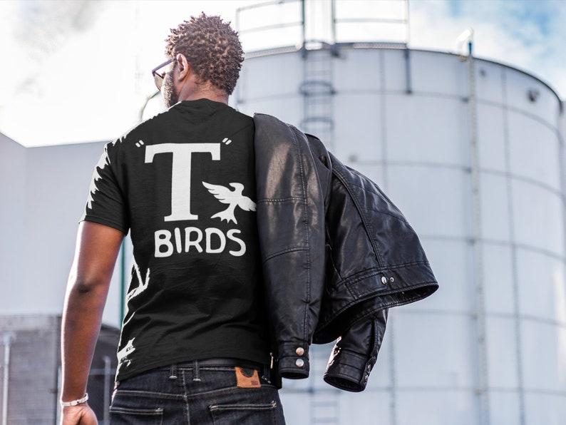 T Birds black shirt GREASER Shirt tee Tshirt black white image 0