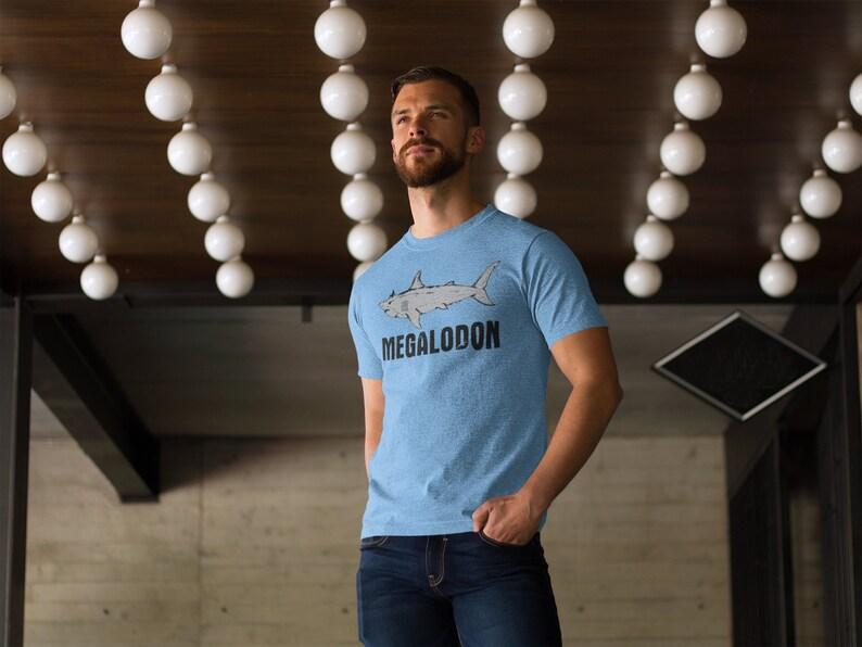 214256551 Funny megalodon shirt vintage shark shirt dinosaur shirt